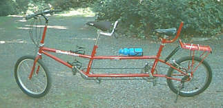 Click to view triple setup as a tandem bike (larger image)